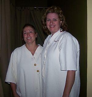 Beth and gwen at spa