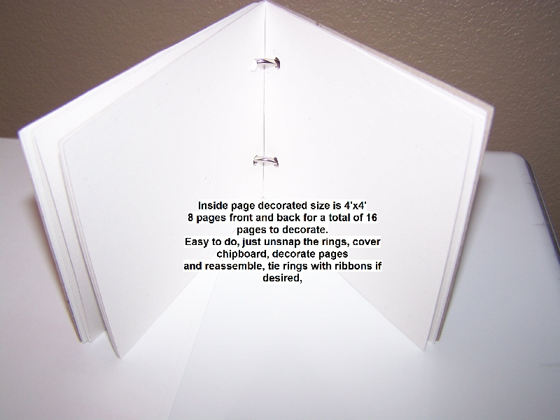 Chipboard book for blog inside