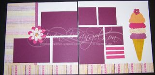 Razzleberry Ice Cream page kit
