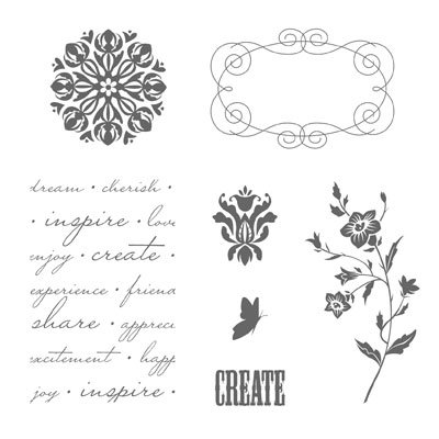 Simply adorned stamp set