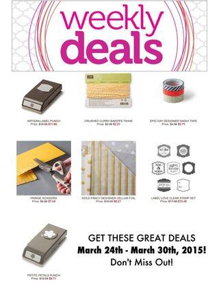 Weekly deals 32515