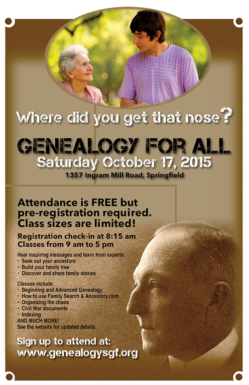 Genealogy poster design