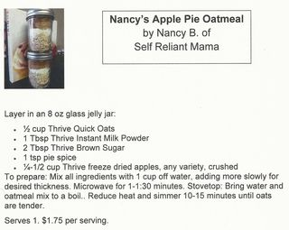 Apple pie oatmeal photo