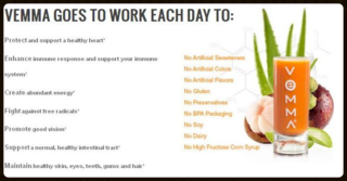 Vemma goes to work daily