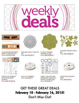 Weekly deal feb10
