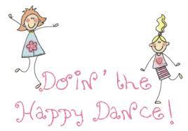 Happy dancing figures